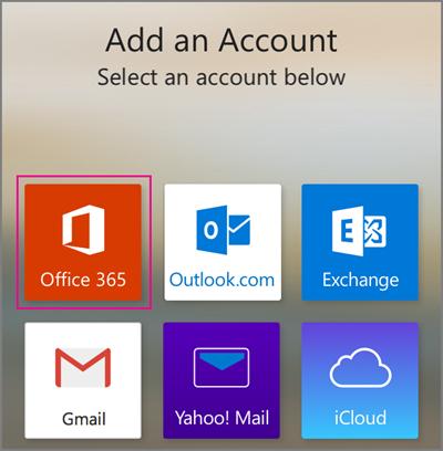 Office 365 アカウントを追加する